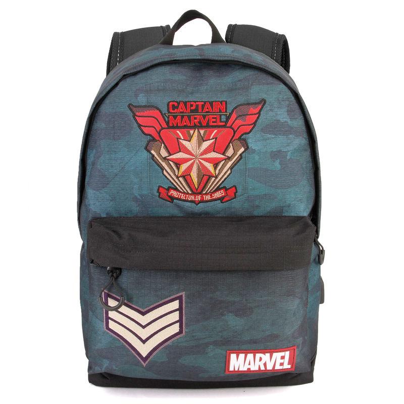 Mochila Capitana Marvel adaptable 42cm 8435376395429