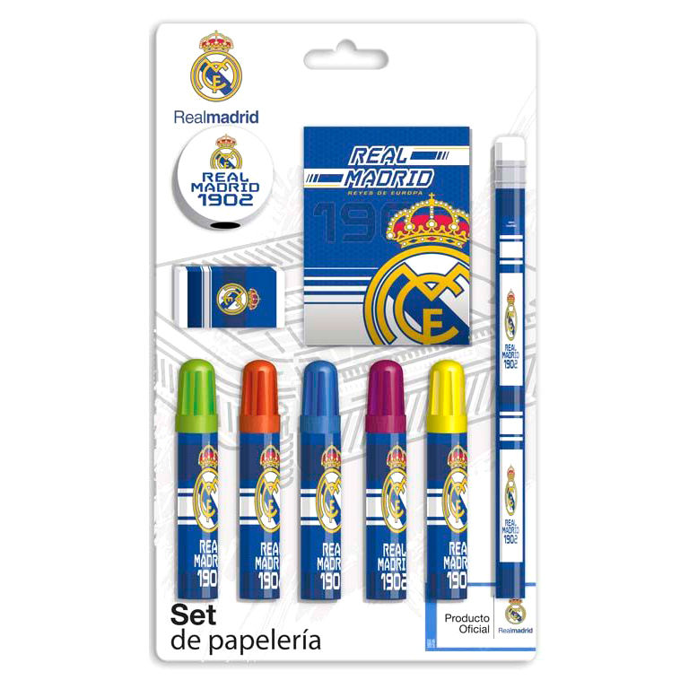 Set papeleria Real Madrid 9pzs 8426842078083