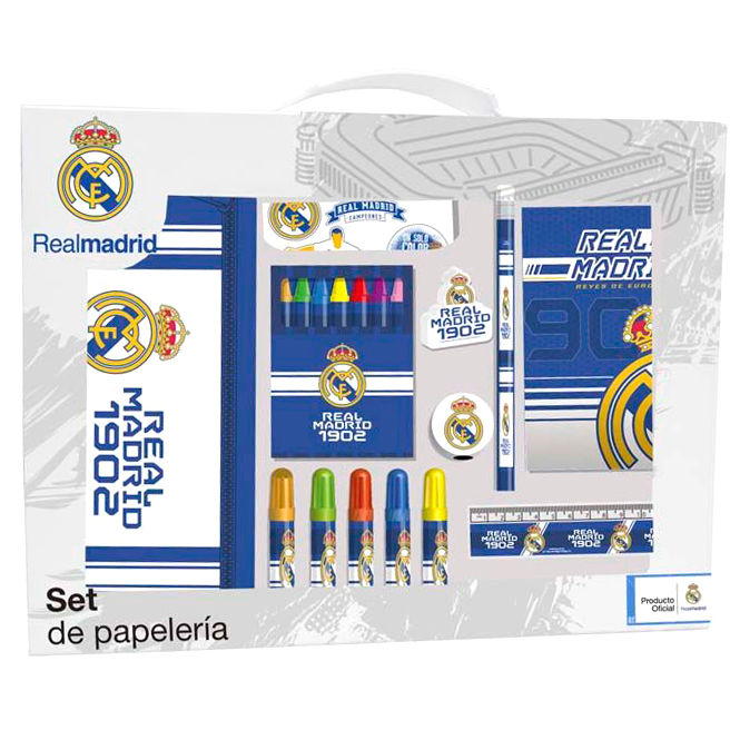 Set papeleria Real Madrid 20pzs
