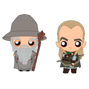 Set 2 figuras Pokis Gandalf & Legolas El Señor de los Anillos