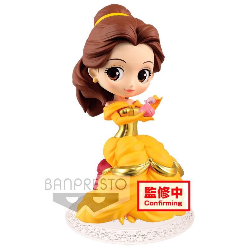 Figura La Bella y la Bestia Bella Perfumagic Disney Q Posket A 14cm