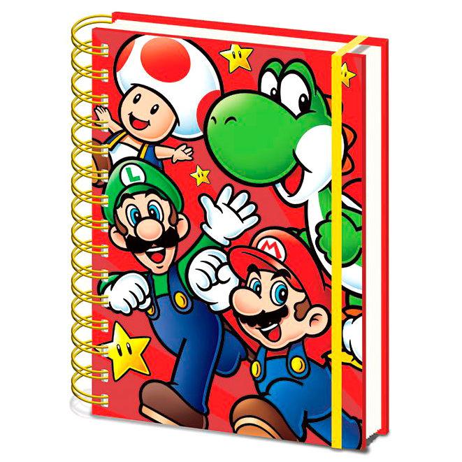 Cuaderno A5 Super Mario Bros Nintendo