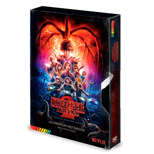 Cuaderno A5 VHS Stranger Things