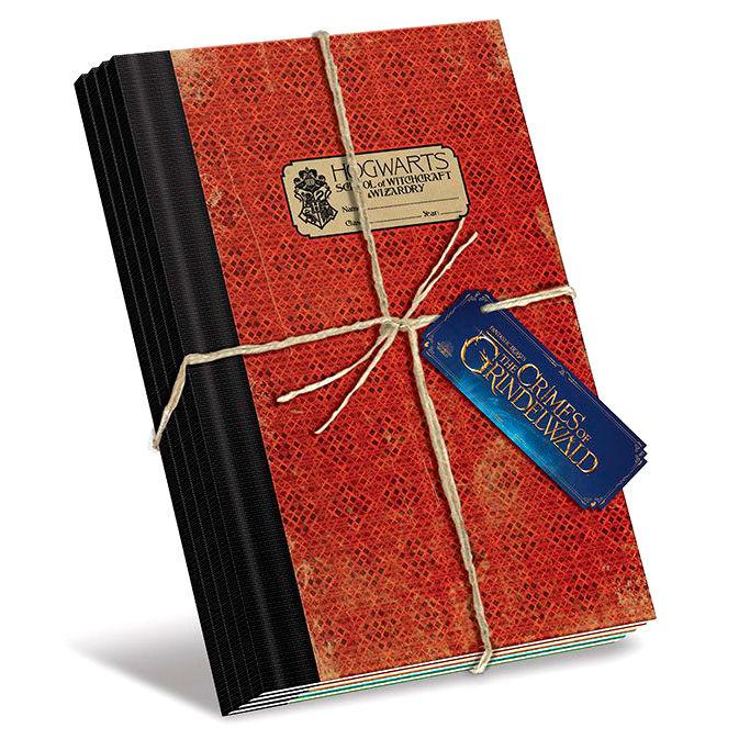 Set 4 cuadernos A5 Hogwarts Animales Fantasticos