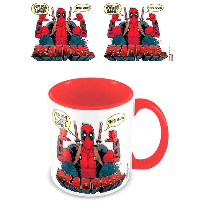 Taza Loves Coffee Deadpool Marvel