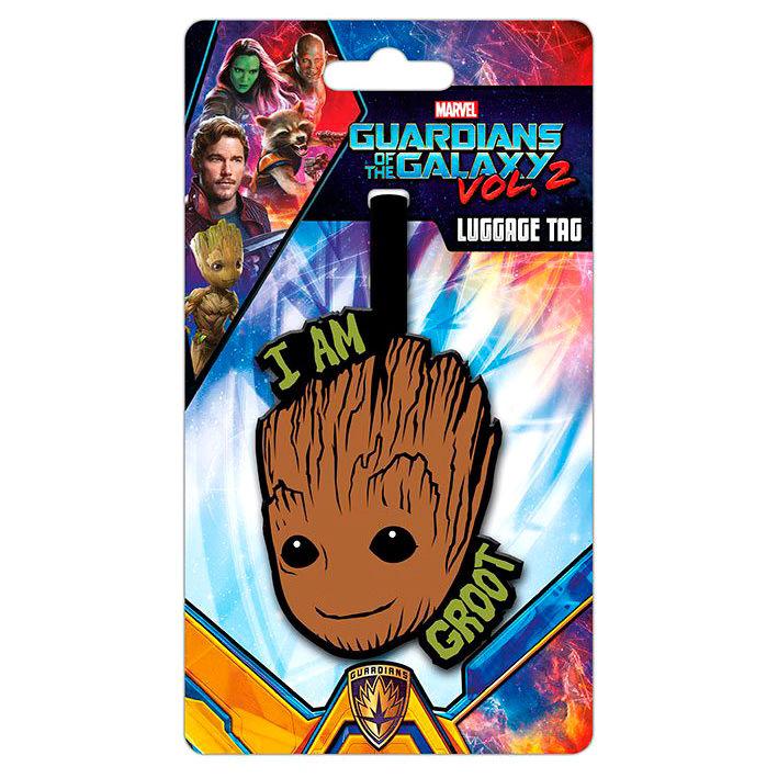 Etiqueta equipaje Groot Guardianes de la Galaxia Marvel