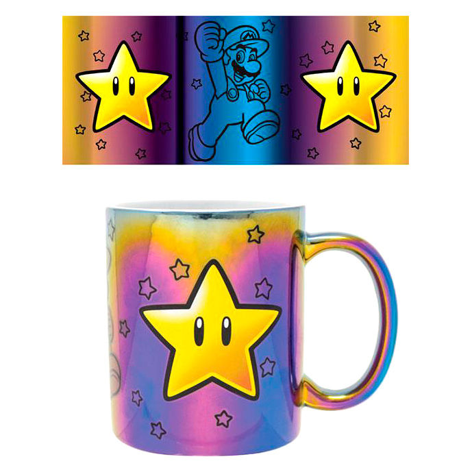 Taza Star Power Super Mario Nintendo