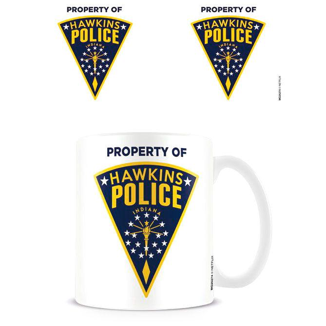 Taza Hawkins Police Badge Stranger Things