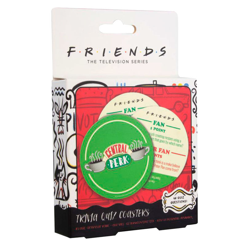 Set de posavaos Licencia Friends Trivial