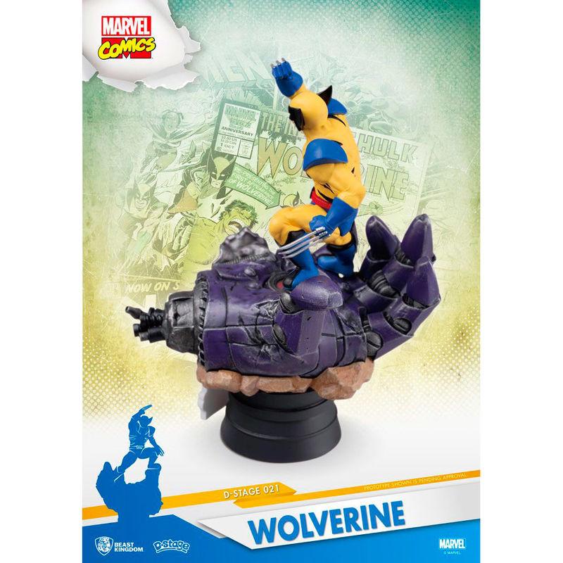 Figura Diorama Lobezno X-Men Marvel 16cm
