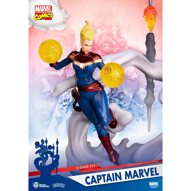 Figura Diorama Capitana Marvel 16cm
