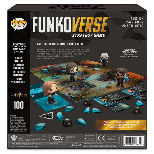 Juego mesa POP Funkoverse Harry Potter 4fig Español