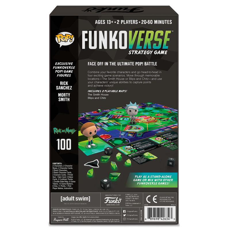 Juego mesa POP Funkoverse Rick & Morty 2fig Español (2)