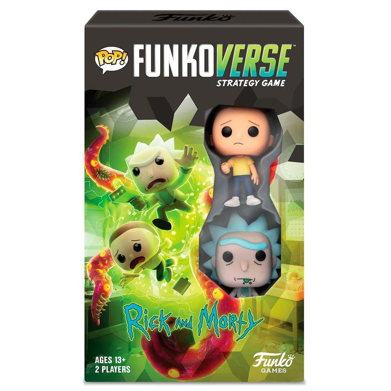 Juego mesa POP Funkoverse Rick & Morty 2fig Español