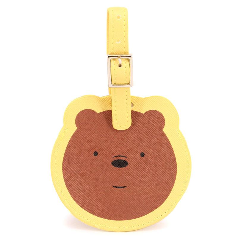 Etiqueta equipaje Somos Osos amarillo
