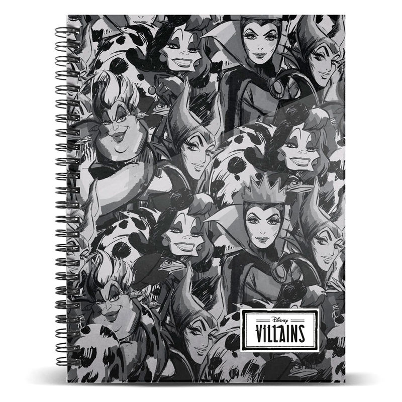 Cuaderno A4 Villanas Disney
