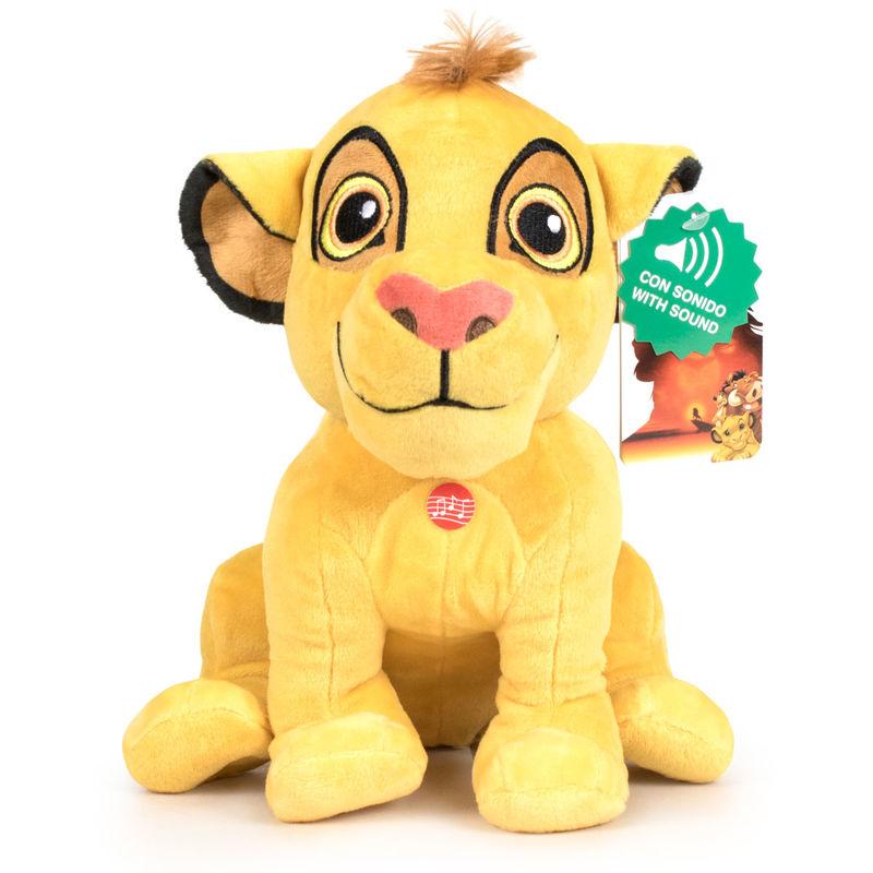 Peluche Simba El Rey Leon Disney soft con sonido 30cm