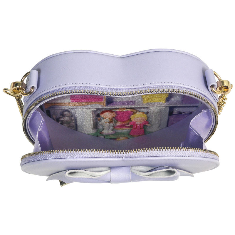 Bolso corazon Polly Pocket morado