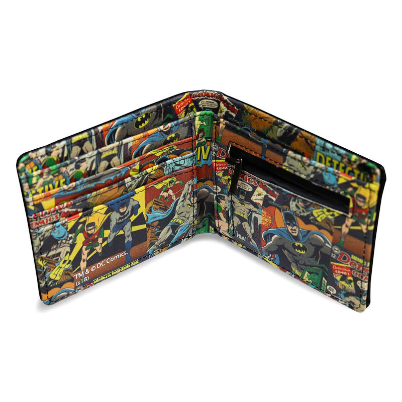 Cartera vintage Batman DC Comics en caja metal