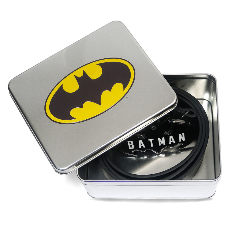 Cinturon Logo Batman en caja metal