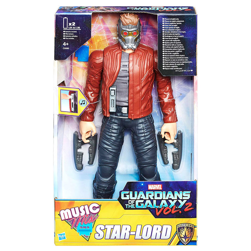 Figura Star Lord Guardianes de la Galaxia vol. 2 Marvel sonido ingles