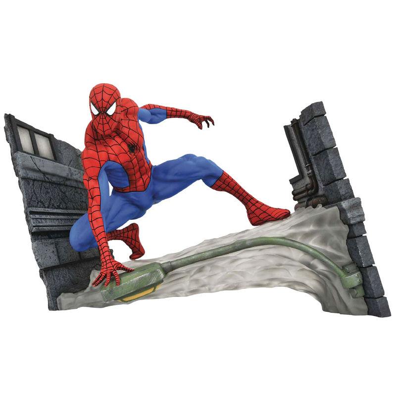 Figura diorama Spiderman Webbing Marvel Gallery 18cm