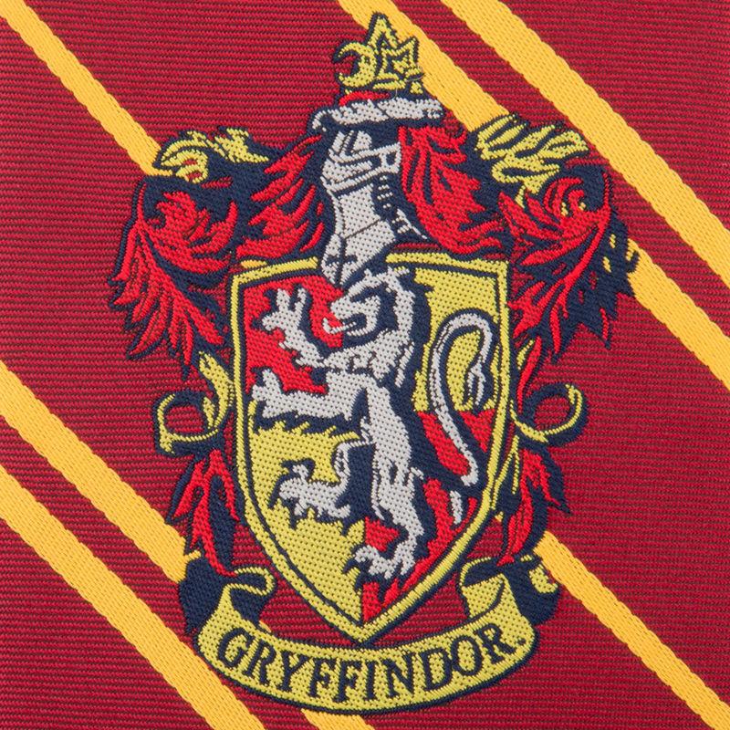 Corbata Gryffindor Harry Potter logo tejido