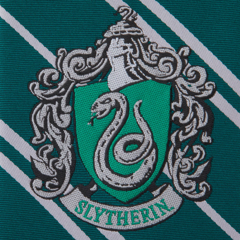 Corbata infantil Slytherin Harry Potter logo tejido