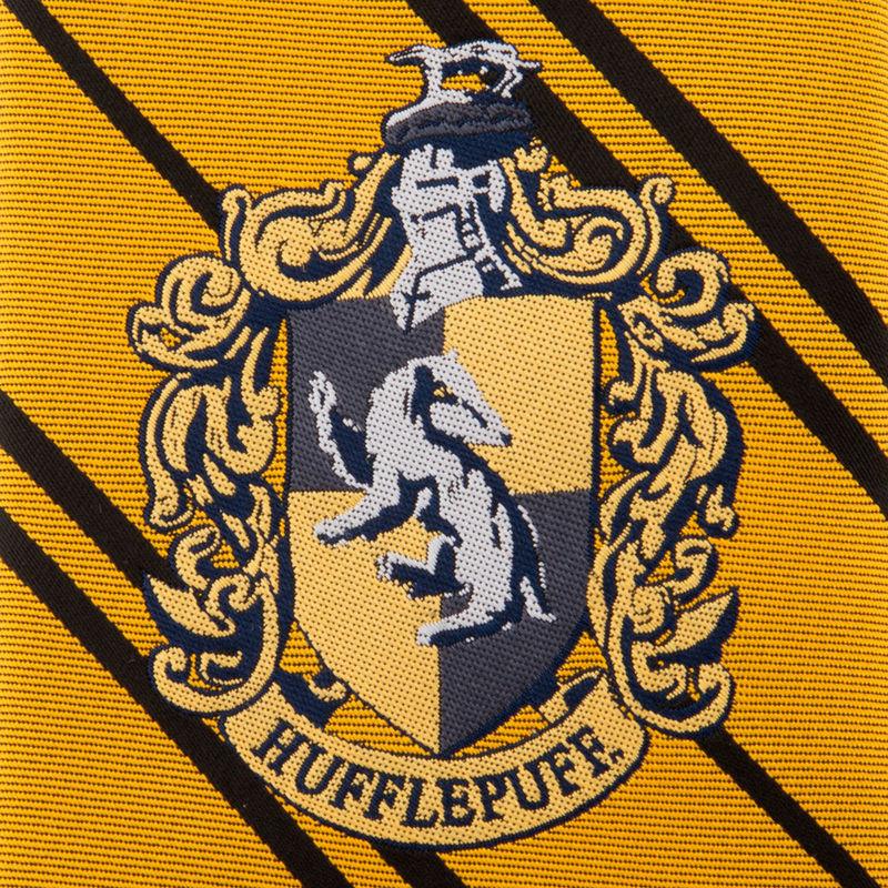 Corbata infantil Hufflepuff Harry Potter logo tejido