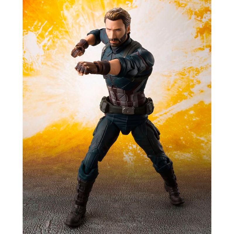 Figura articulada Capitan America Infinity War Vengadores Marvel 16cm