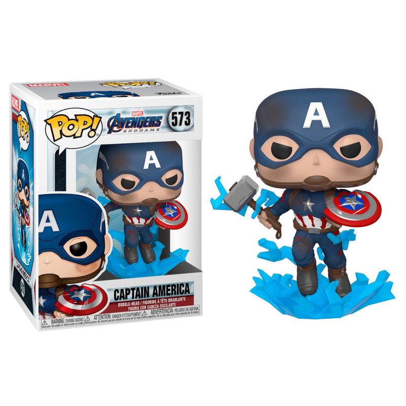 Pre-pedido Funko POP o Figura POP Marvel Vengadores Endgame Capitan America con Escudo Roto y Martillo