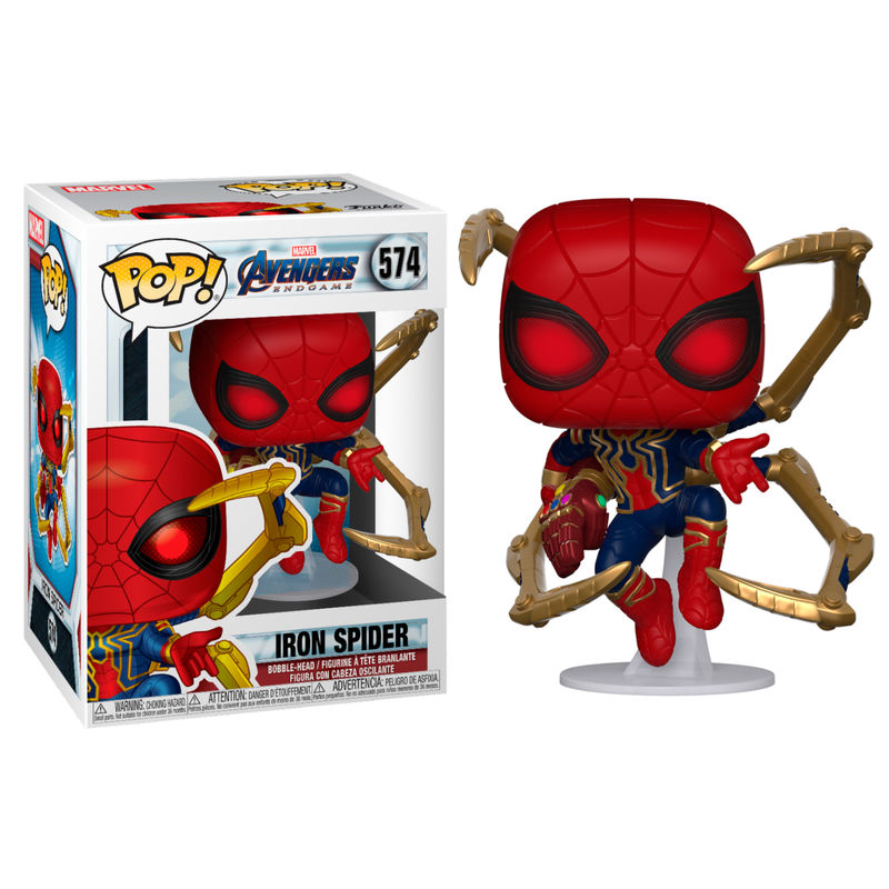 Funko POP o Figura POP Marvel Vengadores Endgame Iron Spider with Nano Gauntlet