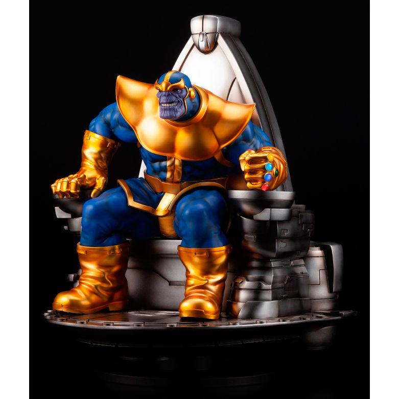 Estatua Thanos en Trono Epacial Vengadores Fine Art Marvel 45cm
