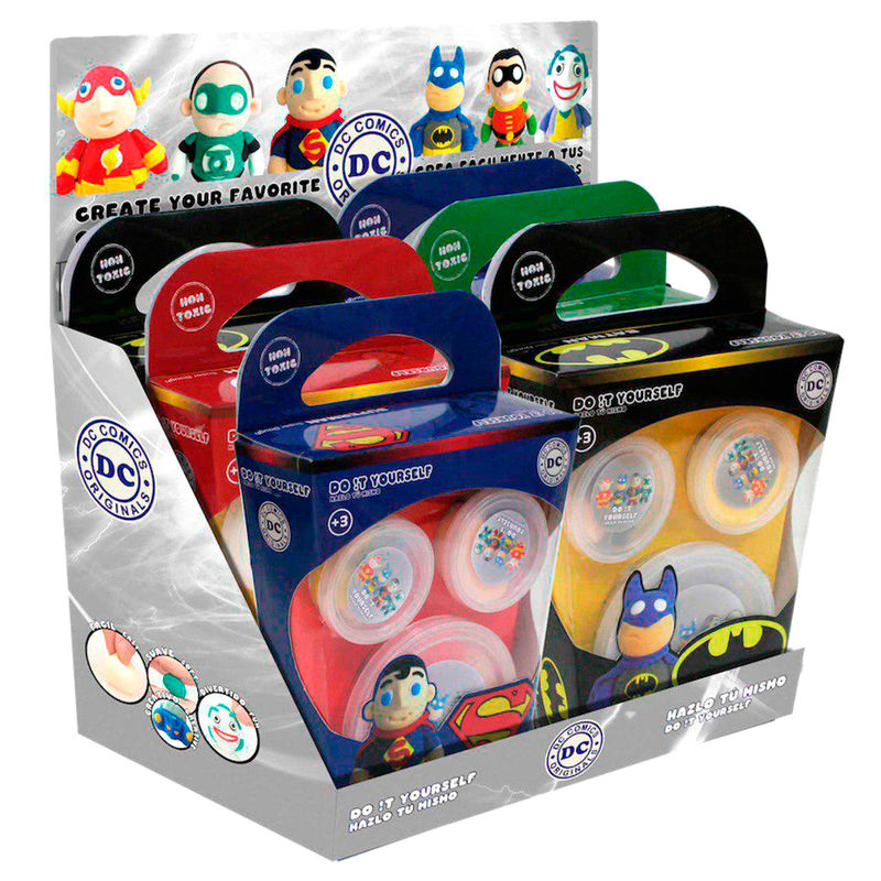 Plastilina Super Dough DC Comics DIY surtido 8435450200458