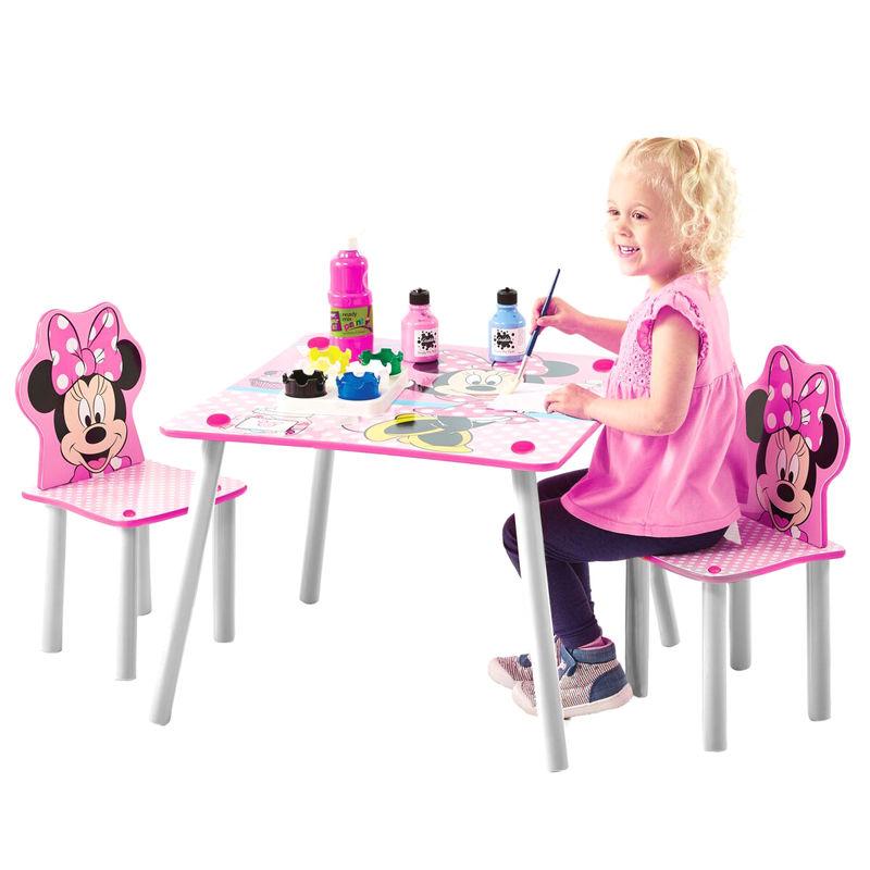 Conjunto infantil mesa y dos sillasMinnie Disney
