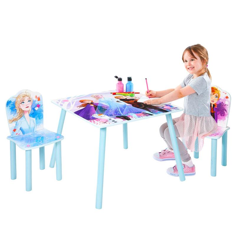 Conjunto infantil mesa y dos sillasFrozen Disney