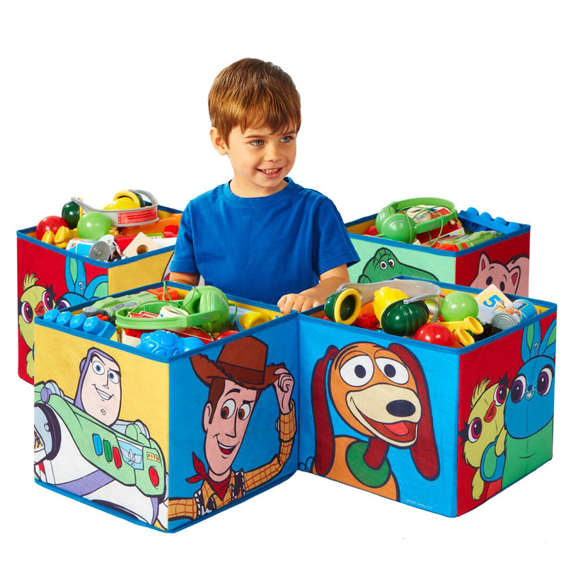 Set 4 cubos jugueteros Toy Story 4 Disney