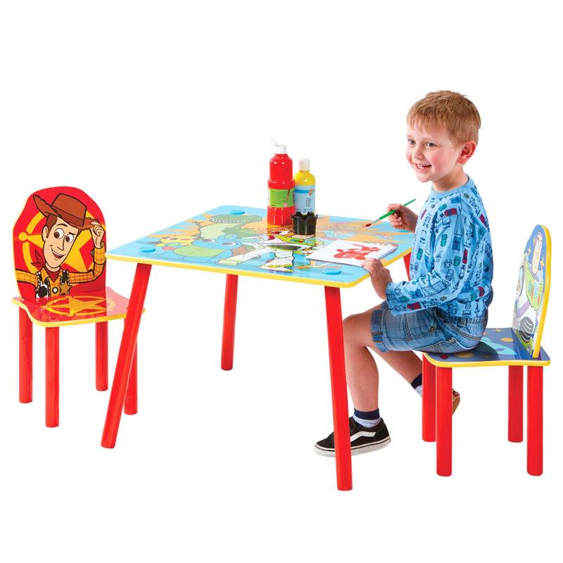 Conjunto infantil mesa y dos sillasToy Story 4 Disney