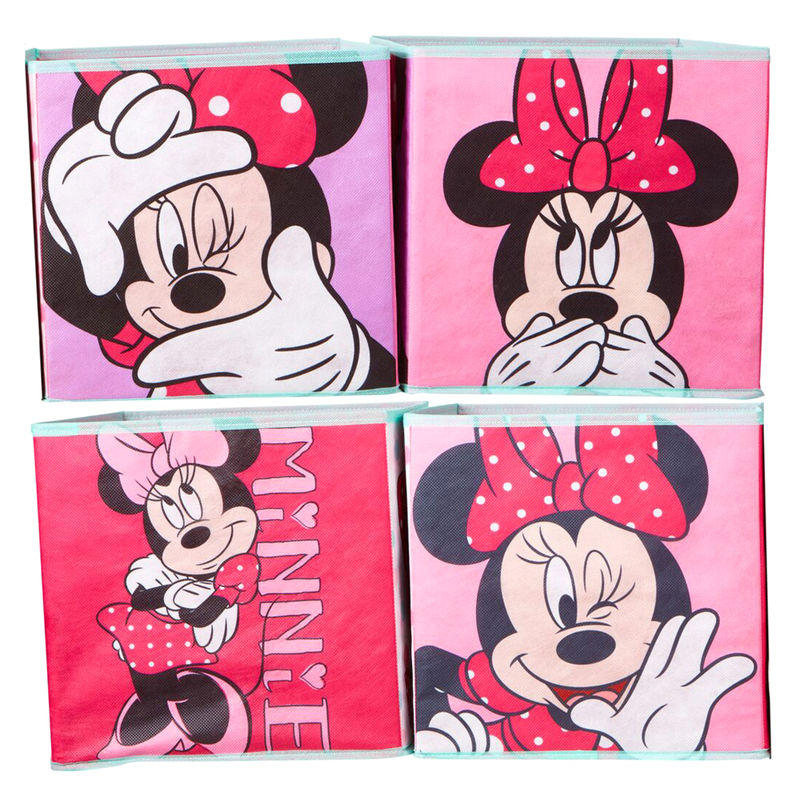 Set 4 cubos jugueteros Minnie Disney