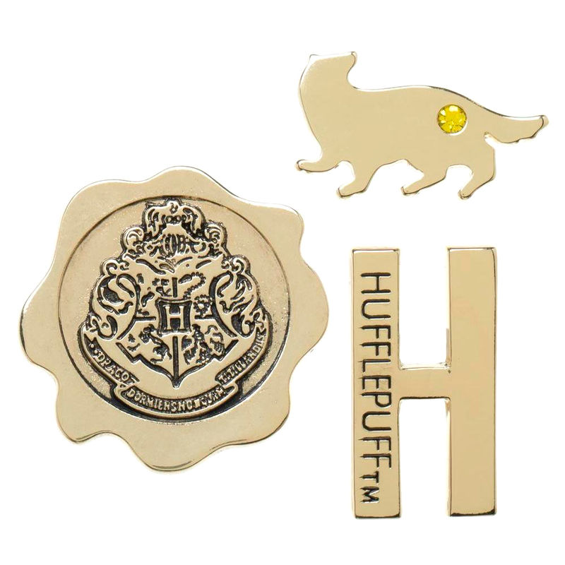 Pack 3 pin Hufflepuff Harry Potter