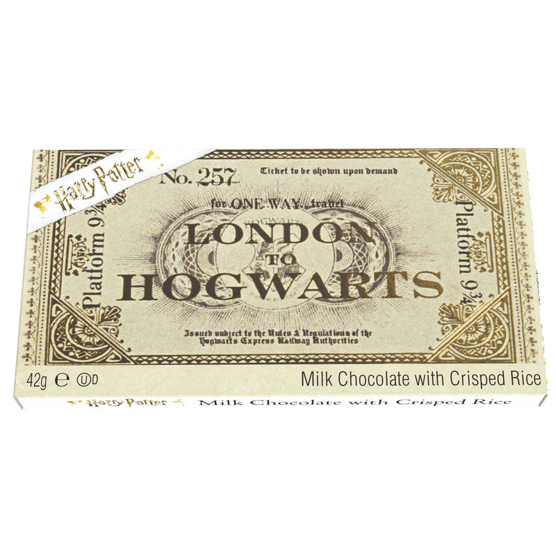 Tableta chocolate ticket London to Hogwarts Platform 9 3/4 Harry Potter