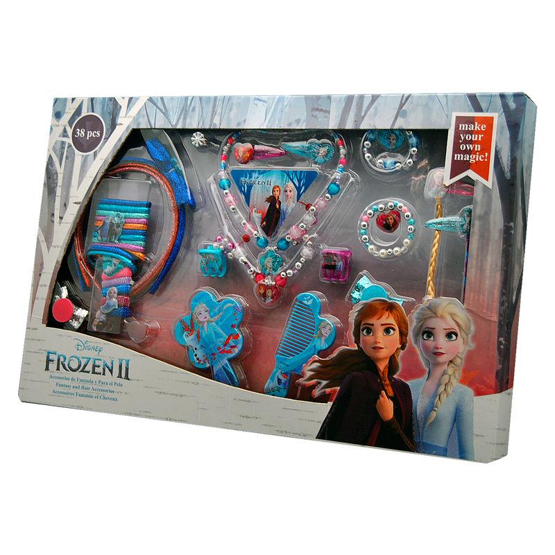 Set accesorios pelo Frozen 2 Disney 36pzs