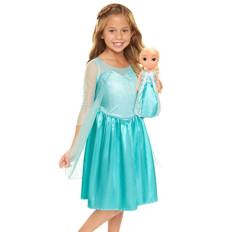 Muñeca Elsa+ disfraz Frozen Disney