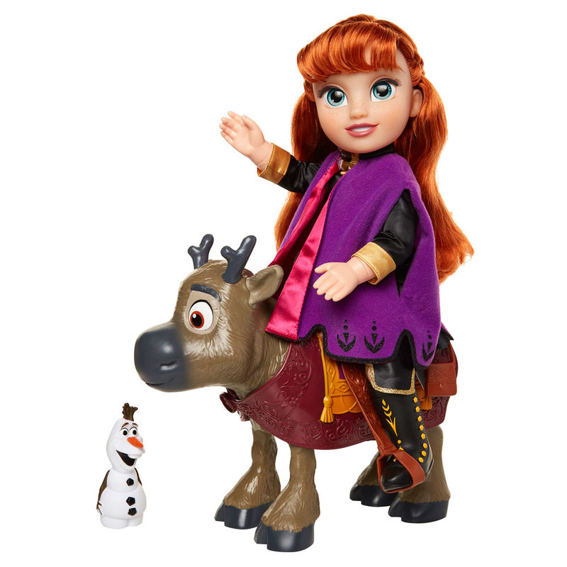 Set muñecos Anna & Sven & Olaf Frozen 2 Disney