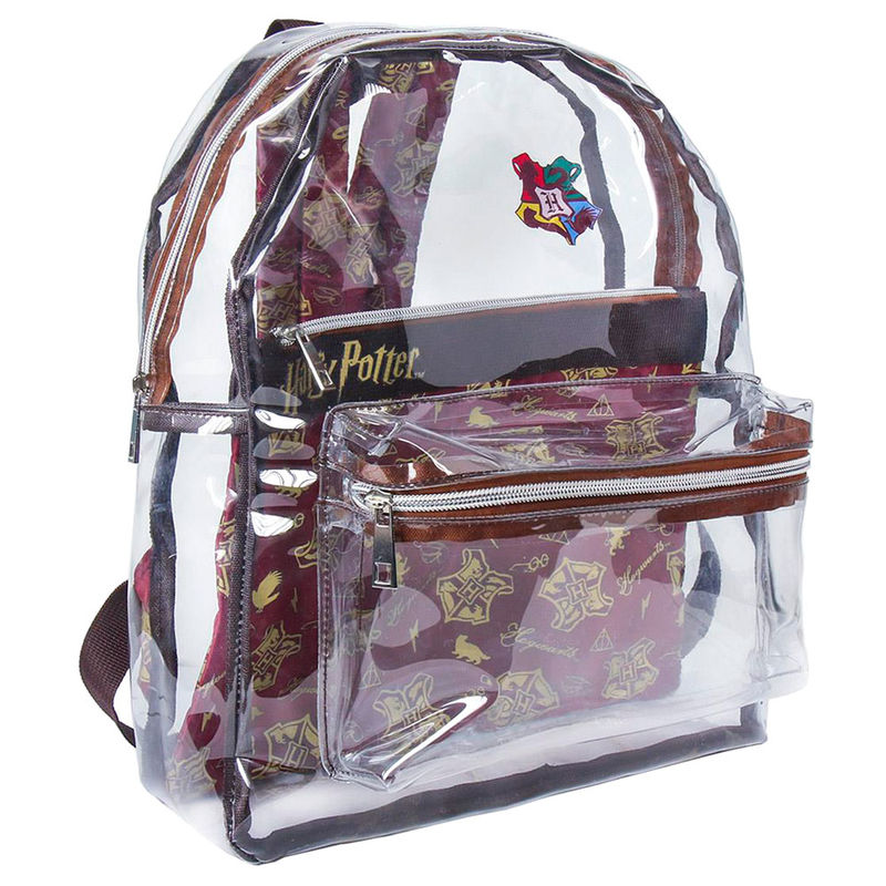 Mochila transparente Harry Potter 40cm