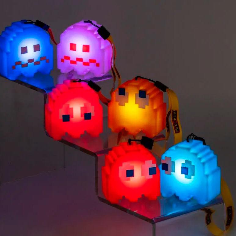 Lampara Led 3D Fantasma Azul Pinky Pac-Man