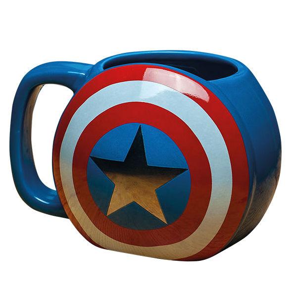 Taza 3D Capitan America Marvel