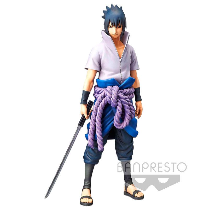 Figura Grandista nero Uchiha Sasuke Naruto Shippuden 27cm By Banpresto