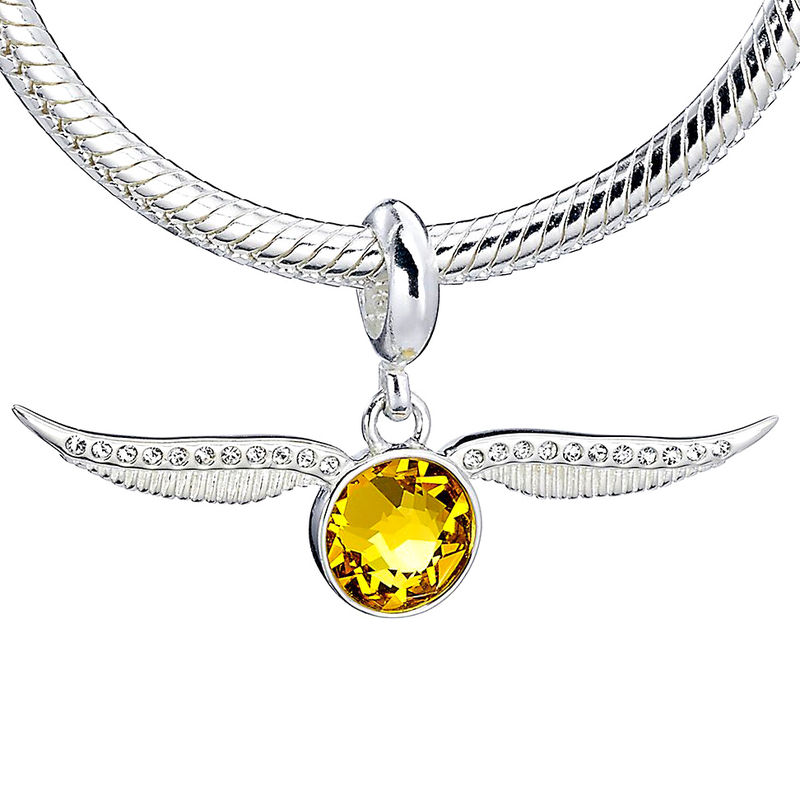 Colgante charm plata swarovski Golden Snitch Harry Potter