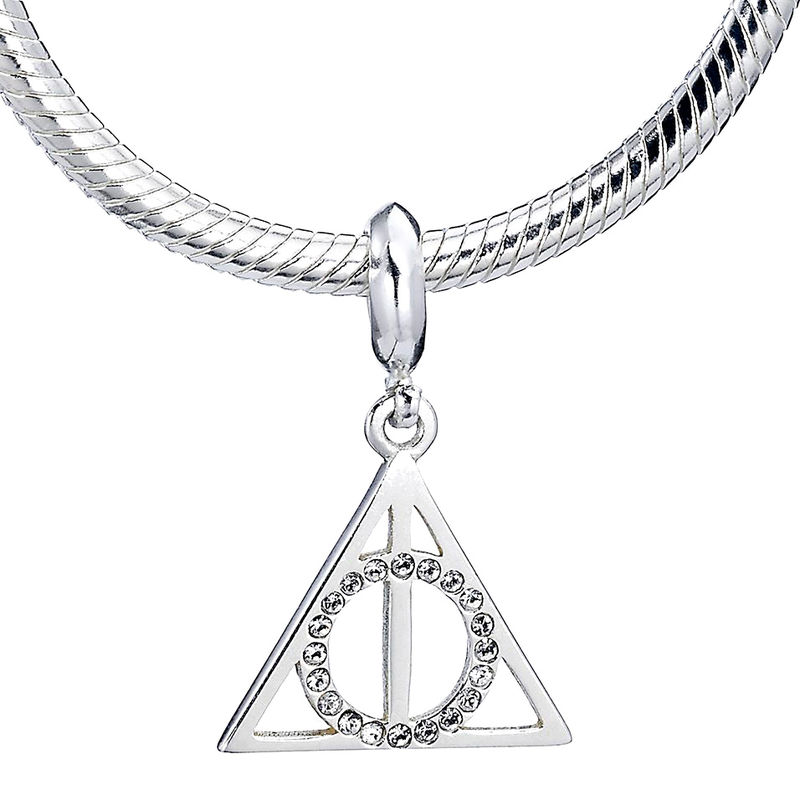 Colgante charm plata swarovski Deathly Hallows Harry Potter